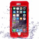 Waterproof Shockproof Dirt-proof Button Style Protective Case for iPhone 6 Plus/6S Plus Red