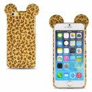 "Leopard Print TPU PC Back Protective Case for 4.7"""" iPhone 6/6S Yellow"