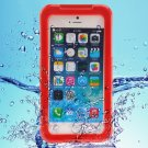 "Premium Waterproof Shockproof Dirt Snow Proof PC TPE Protective Case for 4.7"""" iPhone 6/6S Red"
