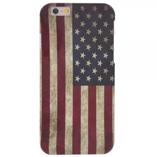 Vintage American Flag Pattern PC Protective Case for iPhone 6/6S