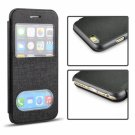 "Angibabe Ultrathin Oracle Flip Leather Case with Double Viewing Windows for 4.7"""" iPhone 6/6S Black"