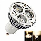 GU10 3W 3 LED 3000-3500K Warm White Light LED Spotlight Bulb (85-265V)
