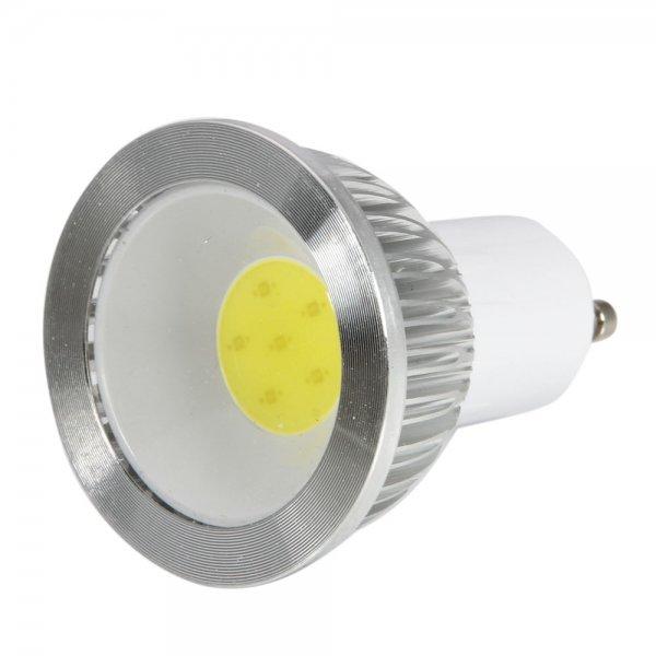 GU10 6W 270-300LM 5500-6500K Planar White Light Dimmable COB LED Light Bulb (110V)