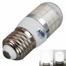 E27 5W 400 Lumen 6000K White Light Corn Light with Silver Side Stripes Cover (110V)