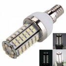 E14 4W 80LED 400LM 6000k White Light Corn Light (220V)