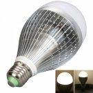 E27 12W 960-1080LM 2800-3200K High-Power Warm White Light LED Ball Light Bulb Silver (85-265V)