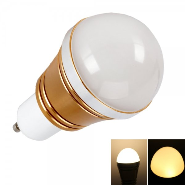 GU10 3W 3000-3200K Warm White LED Light Bulb Gold (85-265V)