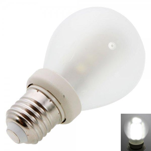 E27 4W 21LED 220LM SMD5050 6000-6500K White LED Light Ball Bulb (220V)