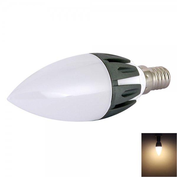 C37 E14 3W 15-LED SMD2835 280LM 3200K Warm White Light 180-Degree Beam Angle LED Bulb (AC 85-265V)