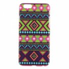 Trendy Rhombic Tribe Pattern Hard PC Protective Case for iPhone 6/6S Blue(4.7