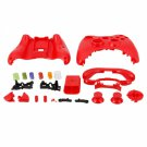 Wireless Controller Protective Housing Case with Buttons for Xbox 360 Red
