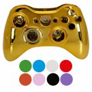 Wireless Controller Shell Case for Xbox 360 Plating Gold