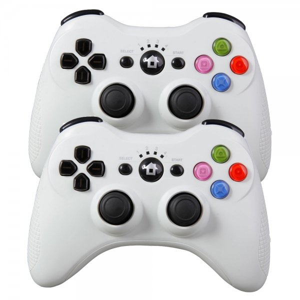 2Pcs ZM390 Wireless Bluetooth Controller for Sony Playstation 3 PS3 / PC White