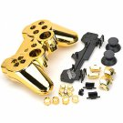 Replacement ABS Electroplating Housing Case for Sony PS3 Game Bluetooth Controllers Golden