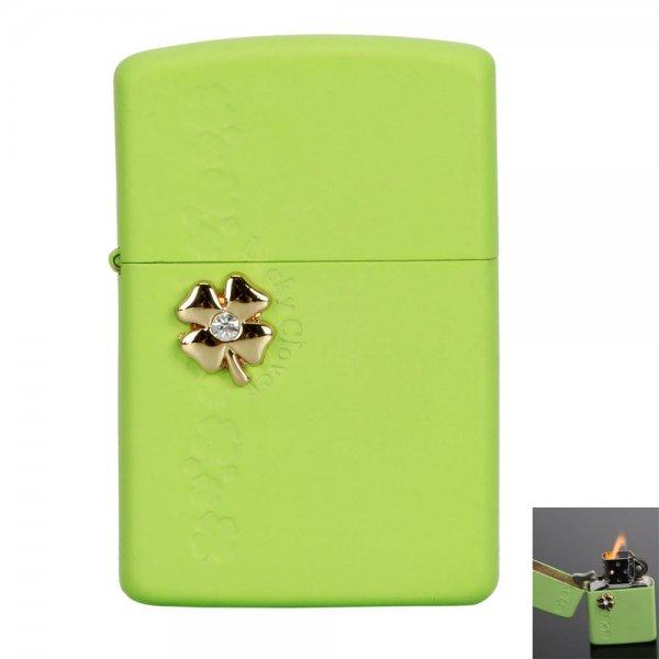 Exquisite Lucky Clover Style Refillable Butane Cigarette Cigar Lighter