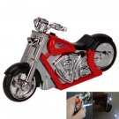 Windproof Motorcycle Style Refillable Butane Cigarette Lighter Red