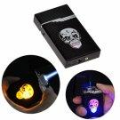Windproof Colorful Lamp Skeleton Head Butane Refillable Cigarette Cigar Lighter