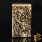 Beast and Skull Pattern Metal Cigarette Lighter Bronze