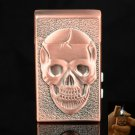 Magic Skeleton Style Alloy Cigarette Lighter Red Bronze