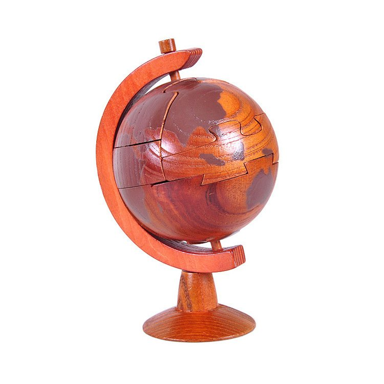New DIY Wooden Puzzle Globe 3D Sculptures Globe