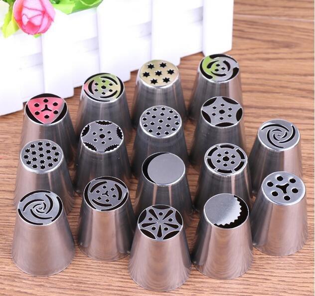 16pcs/Set Russian Piping Tips Icing Piping Nozzles DIY Baking Tools For Cupcakes Decoration