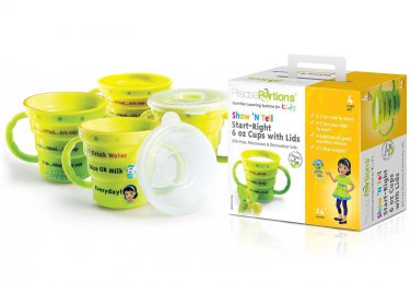 Show �N Tell Start-Right 6 oz Cup & Lid Sets (Set 4)