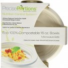 Nutrition & Portion Control 2 Cup ECO Bowls with visual 1/2 cup guidelines(Pk25, White)