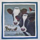 8 COWS in WINTER Cardinals COW Cardinal Lang Stickers