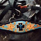 NEW cross engraved hand painted bronc halter horse size