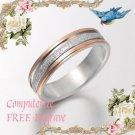 Men Women Gold Wedding Engagement Anniversary Bands Titanium Rings 4mm Sz4-10.5