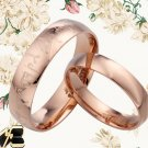 Men Women Rose Gold Champagne Special Titanium Wedding Rings 084