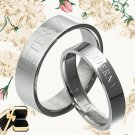 Yourword Matching Wedding Engagement Bands Titanium Couple Rings Set 048