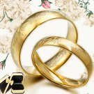 Men Women 18K Gold F Plain Wedding Dome Comfort Fit Titanium Rings 058