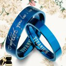 His and Her Matching Blue Wedding Rings 086