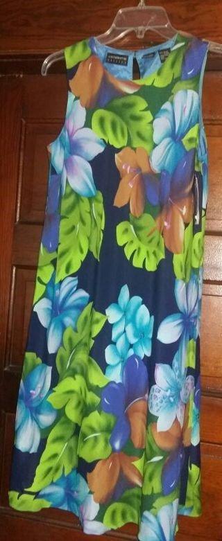 """LIZ CLAIBORNE size 6 """"Exotic Influence"""" floral dress"""