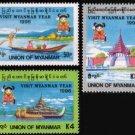 Myanmar/Burma 1996 Tourism - Visit Myanmar Year MNH 3v