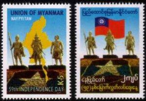 Myanmar/Burma 2007 Independence Day MNH 2v