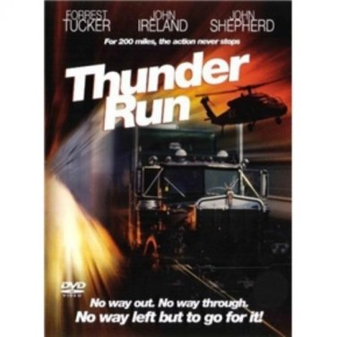 Thunder Run - DVD - John Ireland - Forrest Tucker - Trucking Drama