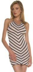 Striped Halter Mini Dress