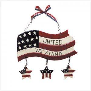 WOOD AMERICAN FLAG WALL PLQ