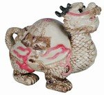 Antique Ivory Finish Dragon Turtle Sculpture