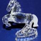 Crystal Glass Art Horse Figurine W. Flashing Light