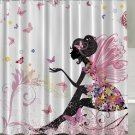 Fairy, Flowers, Butterfly Wings, Shower Curtain