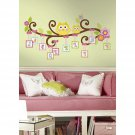 98 pc. Giant Owl Scroll Tree Letter Branch Peel and Stick Wall Decal