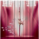 "Monkey Dancing on the Stripper Pole Shower Curtain 69""W x 70""L"