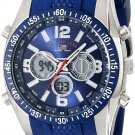 U.S. Polo Assn. Sport Men's Blue and Silver-Tone Analog/Digital Chronograph Watch