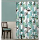"Maytex Owl Fabric Shower Curtain ""70x""72"" (2 DAY SHIPPING)"