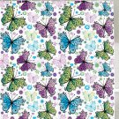 Spring Summer Butterflies Shower Curtain (2 DAY SHIPPING)