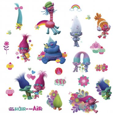 RoomMates RMK3400SCS Trolls Wall Decals (2 DAY SHIPPING)