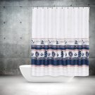 Nautical Anchor Sailboat Shower Curtain 72x78 (2 DAY SHIPPING)